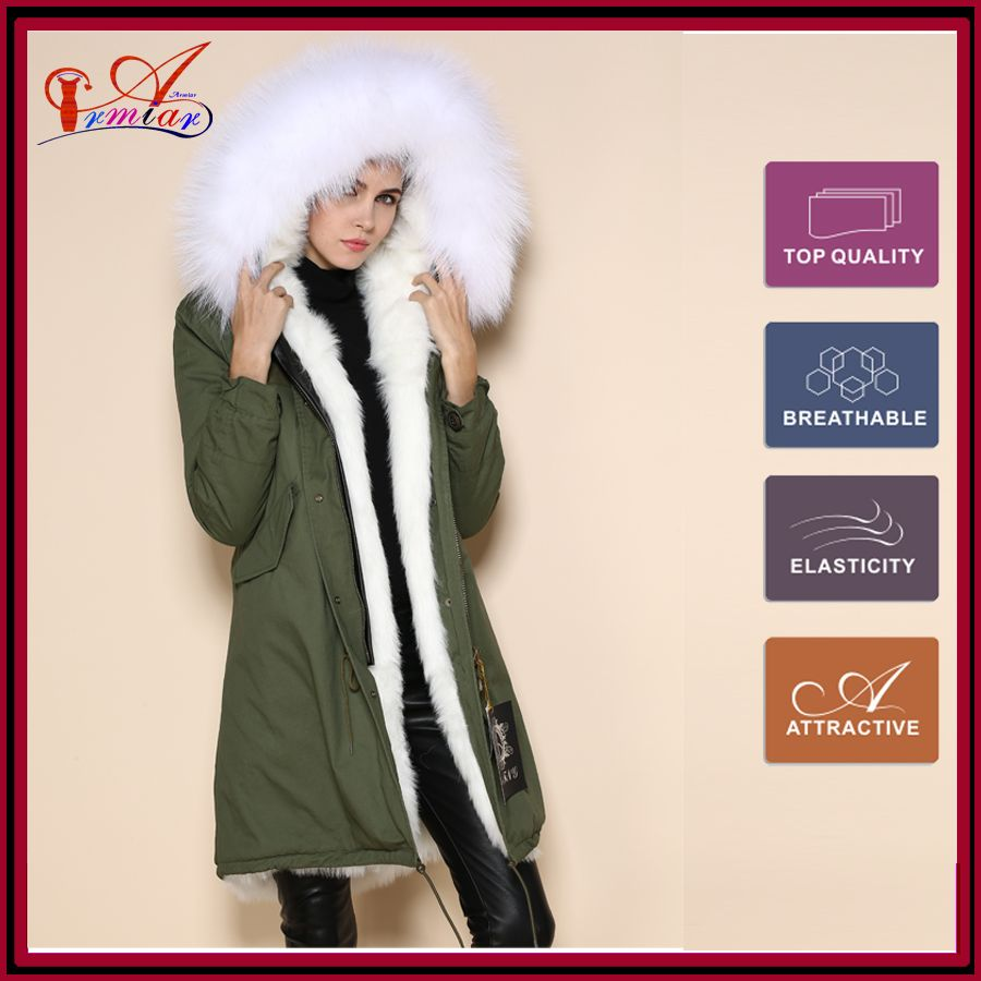 Find More Trench Information about mr mrs furs shop faux white fox ...