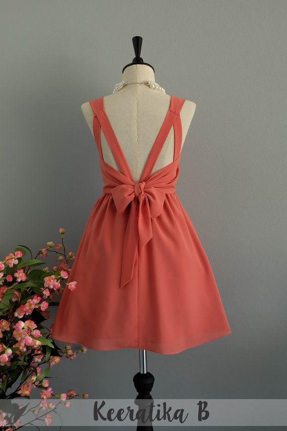 Echo peach dress dusty peach party dress peach prom dress peach ...