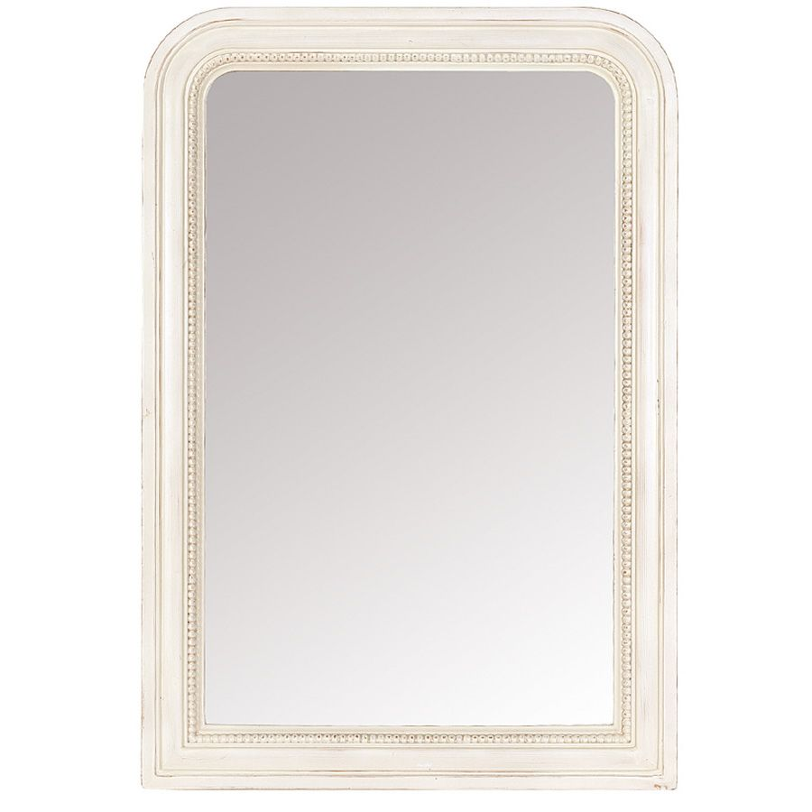 Entour d 39 un sublime cadre perl ce miroir assurera une Miroir a fixer au mur