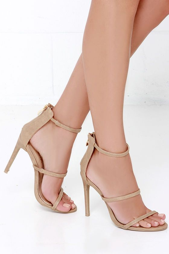 bbb761682b29 You ll be all dolled up in two shakes with the Three Love Nude Dress Sandals!  A minimal