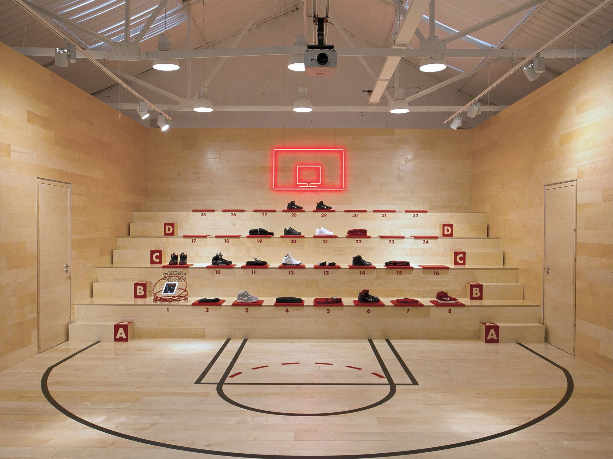 Concept Store For The Launch Of The Lebron 9 Shoe In