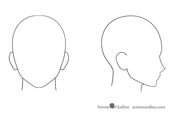 Pin By Emma Makinen On Thingstodo Anime Face Shapes Anime Head Anime Head Shapes