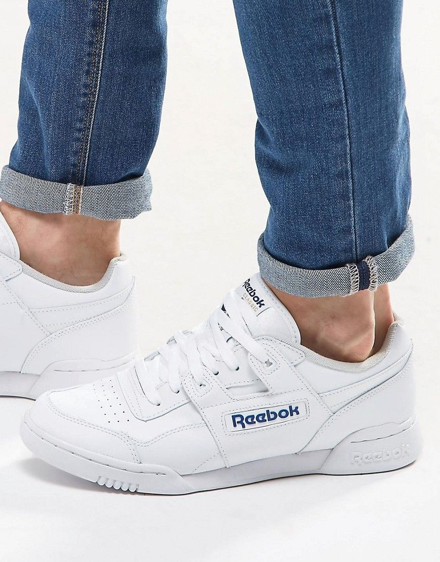 reebok workout plus trainers in white 2759