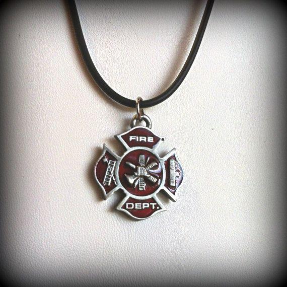 Firefighter Maltese Cross Necklace By Twisteddreamsjewelry On Etsy 12 00 Need A Long Silver Chain Though Long Silver Chains Necklace Womens Necklaces