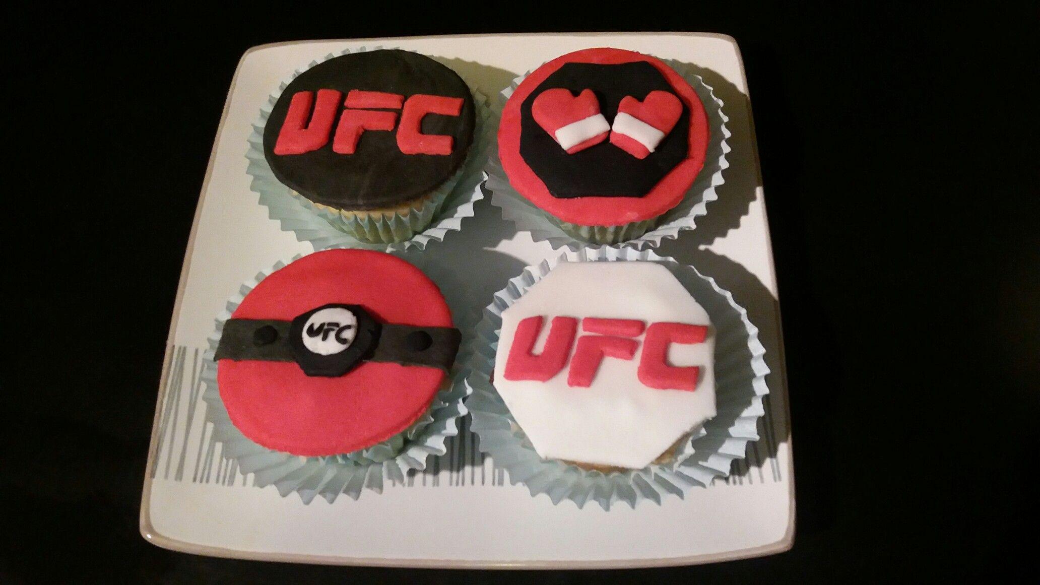 Cupcakes De Vainilla Ufc Cake Ufc Fight Night Ufc
