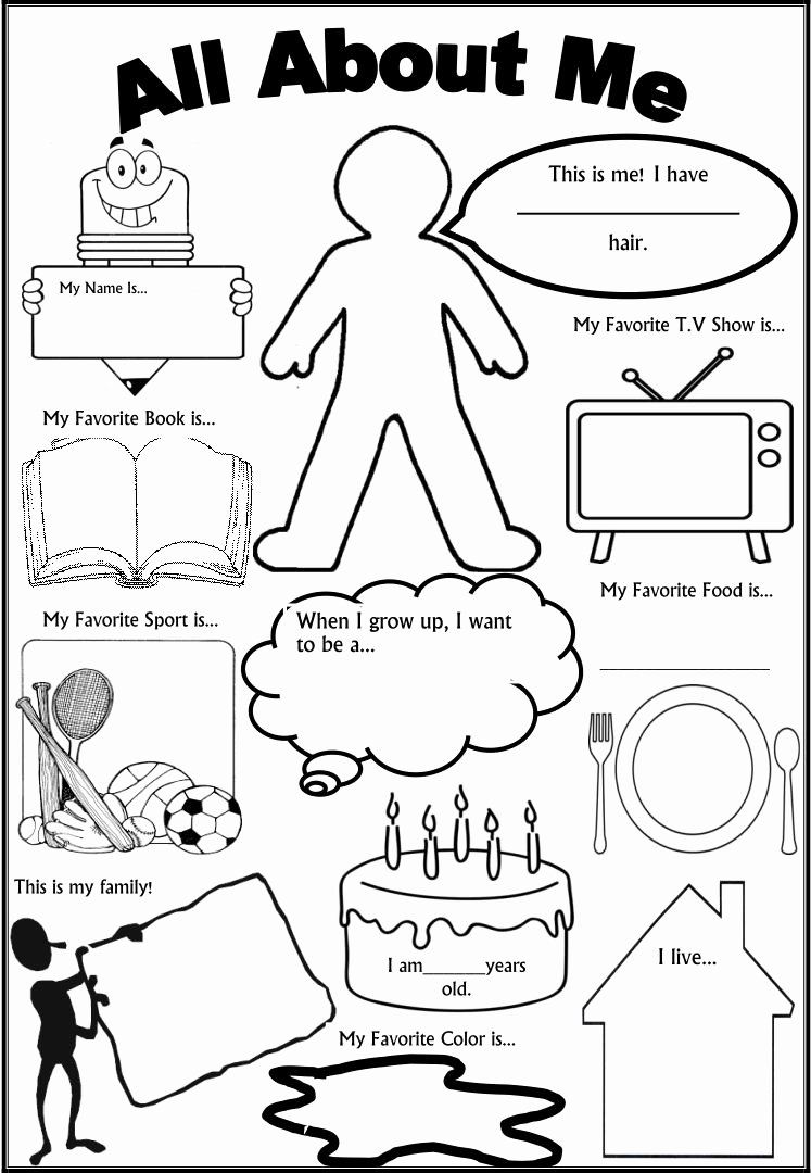 Printable All About Me Worksheet Top 6 Best Of All About Me Printable Template All All About Me Worksheet Educational Worksheets First Day Of School Activities [ 1080 x 747 Pixel ]