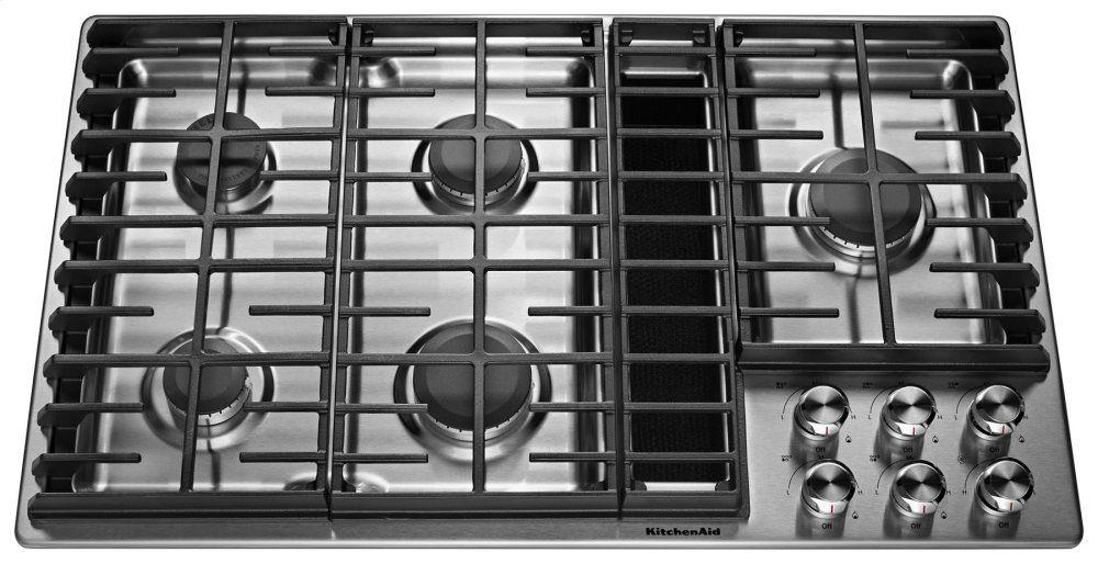 Kcgd506gss kitchenaid 36 5 burner gas downdraft cooktop