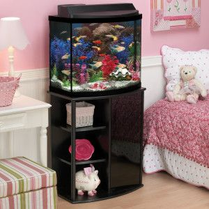 Aqueon 26 gallon deluxe bow front aquarium kit petsmart for Petsmart fish tank stand
