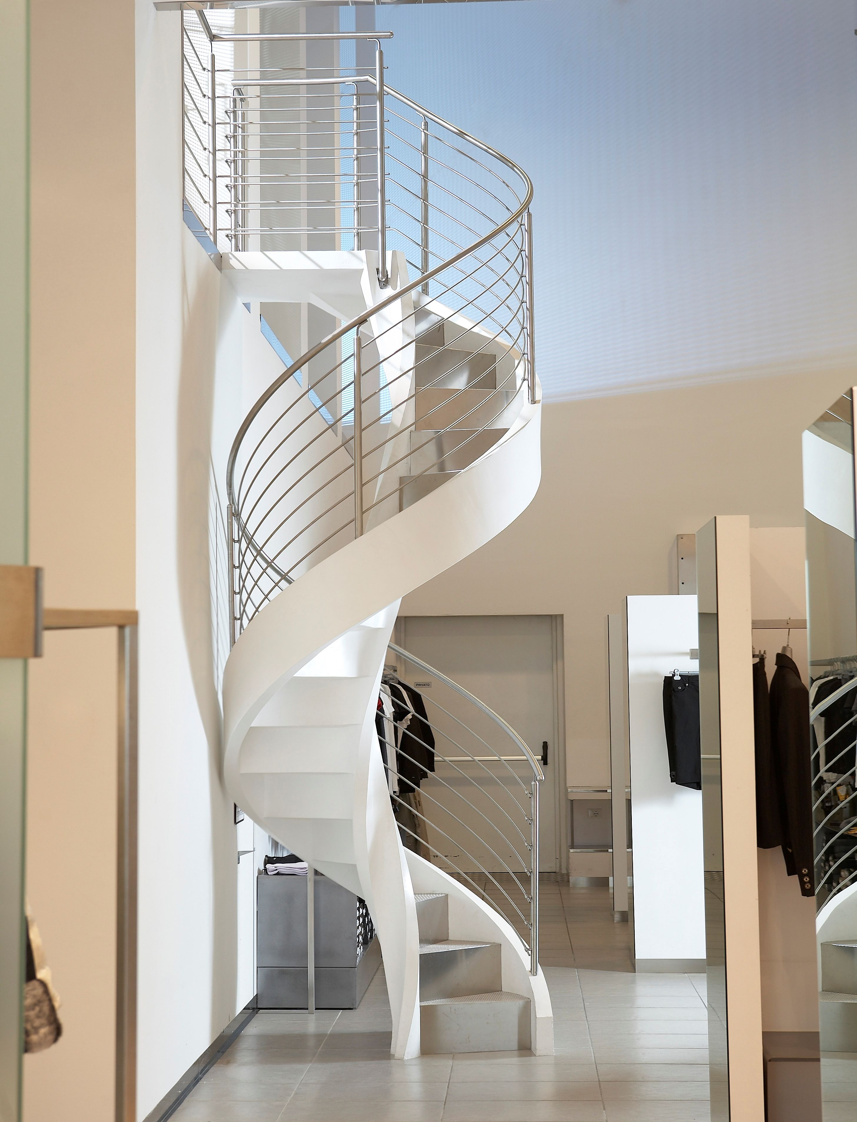 Helicoidal Staircase Reinforced Concrete Eli Ca 05 | Helical Staircase Structural Design