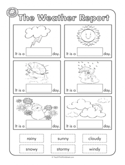 Weather Worksheet For Kindergarten Free Activities Worksheets - Weather forecast printable
