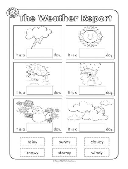 Weather Worksheet For Kindergarten Free Activities