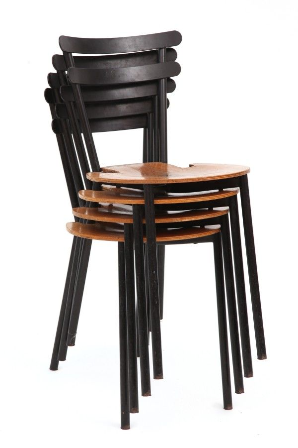 Stackable Metal Oak Dining Chairs Metal Dining Chairs Metal