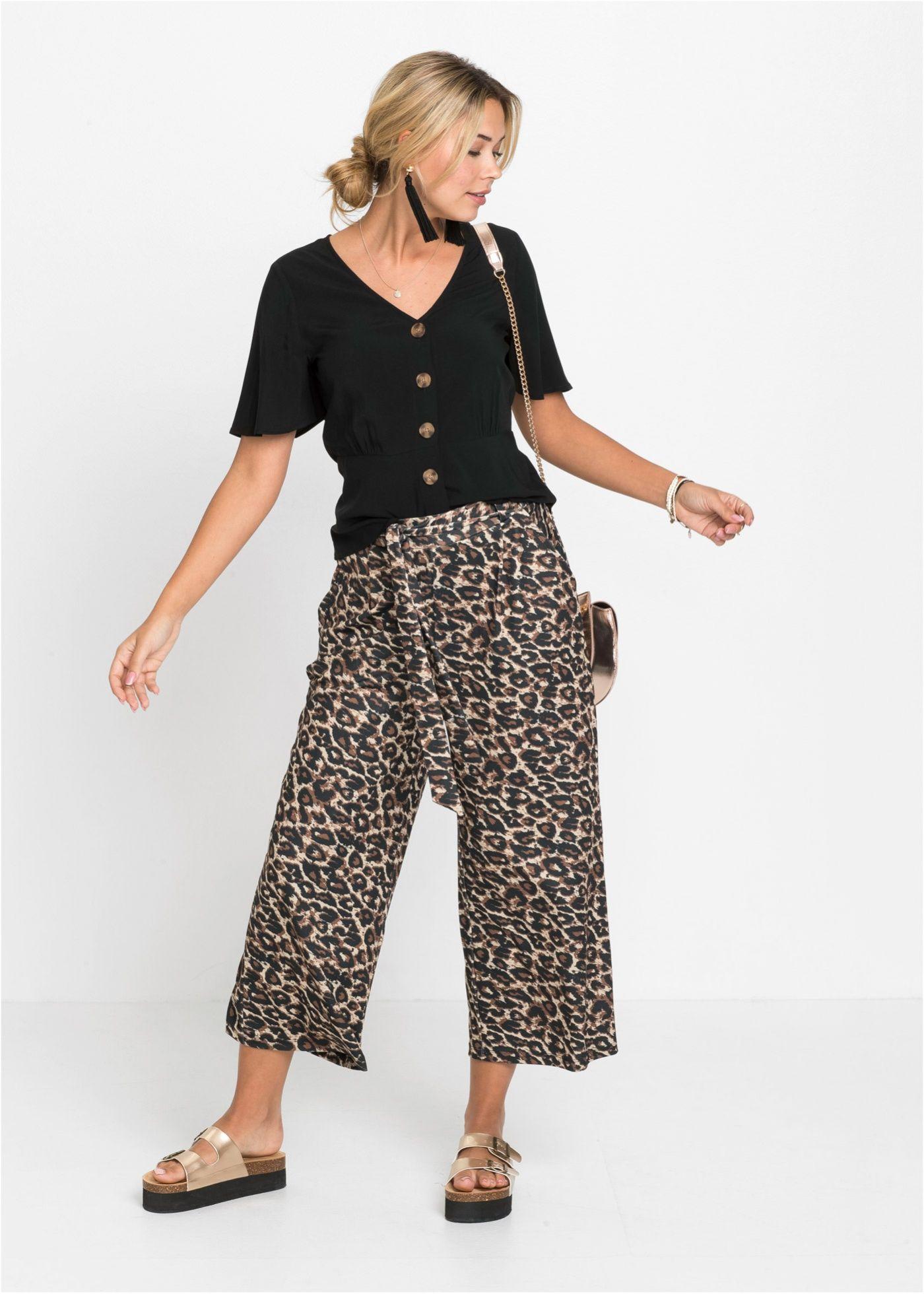 Verkurzte Fliessende Hose Mit Bindeband Culotte Style Hosen Outfit