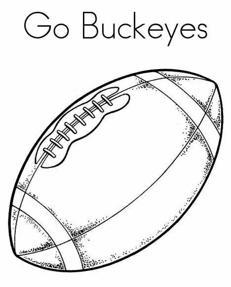 Ohio State Football Coloring Pages Football Clip Art Sports Coloring Pages