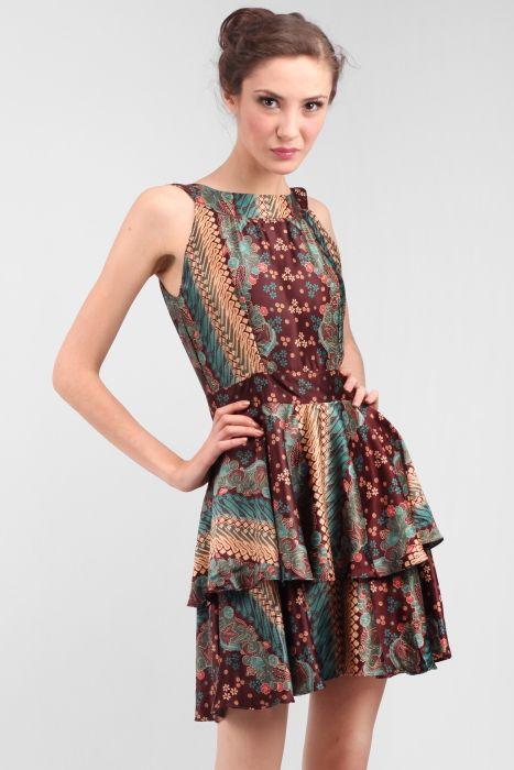 Indonesian Batik Dress  5ffc4f31e2