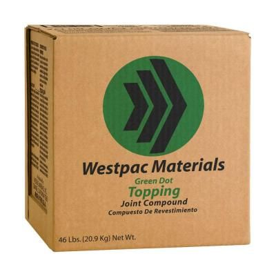 Westpac Materials 3 5 Gal Green Dot Topping Pre Mixed Joint Compound 18260h The Home Depot Green Dot Material Green
