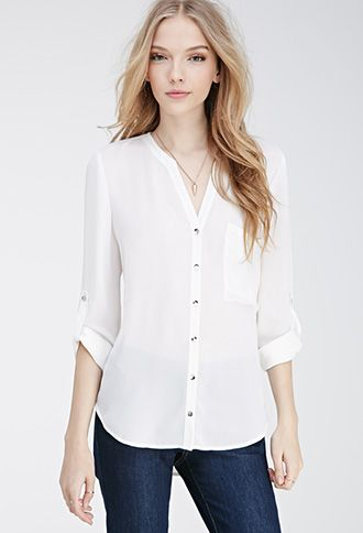 3bfa8e72a9 Chiffon Pocket Blouse