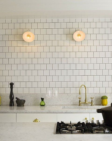 Mmm. Square white tiles, love. and love that tap. Let's move away from boring same old steel looking taps..