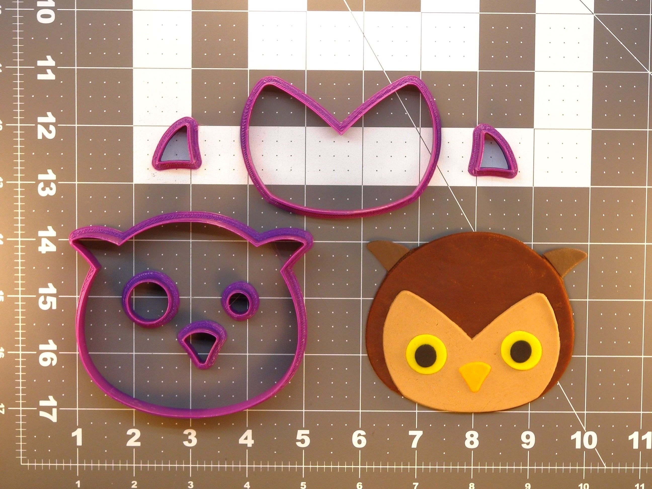 Owl Face Cookie Cutter Set
