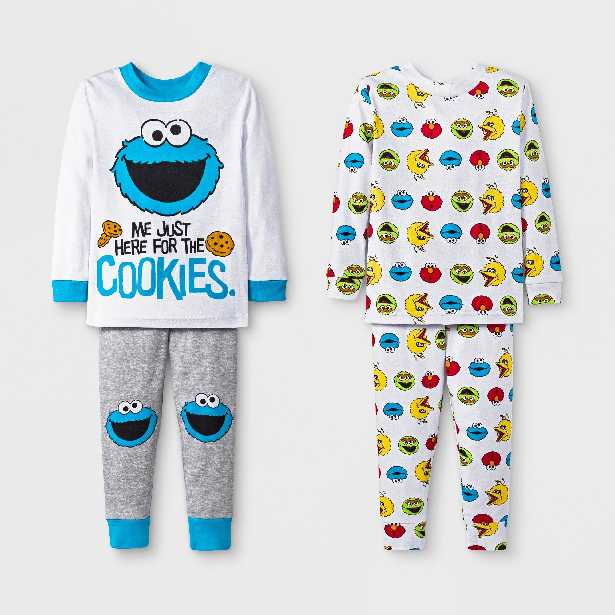 5b98082a5 Baby Boys' 4pc Sesame Street Pajama Set - White 18M | Products ...