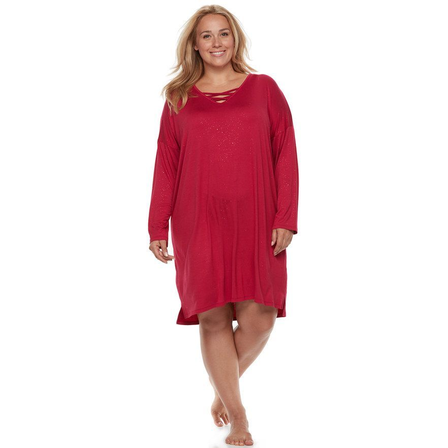 8eedea273c2 Plus Size Apt. 9® Pajamas  Long Sleeve Crossover Sleep Shirt