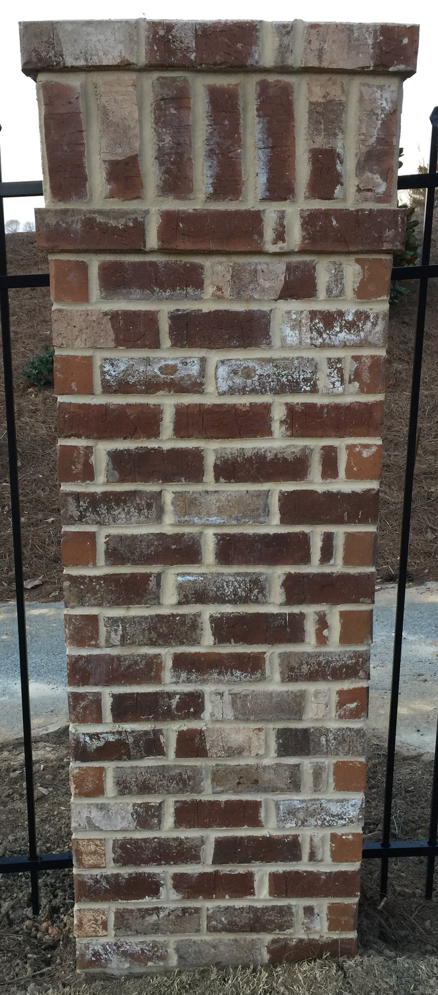 Henry Brick Color Cypress Point With Ivory Mortar Used