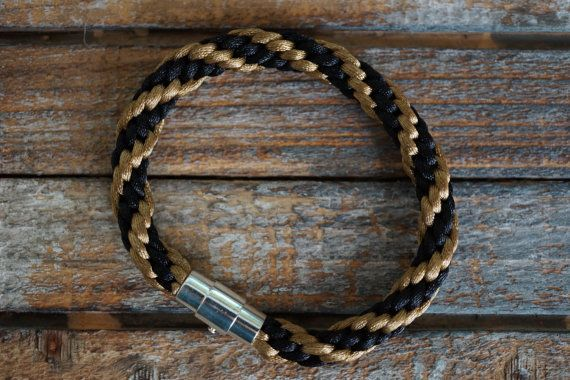 Brown Kumihimo Bracelet Black and Brown Braided by fanfarria