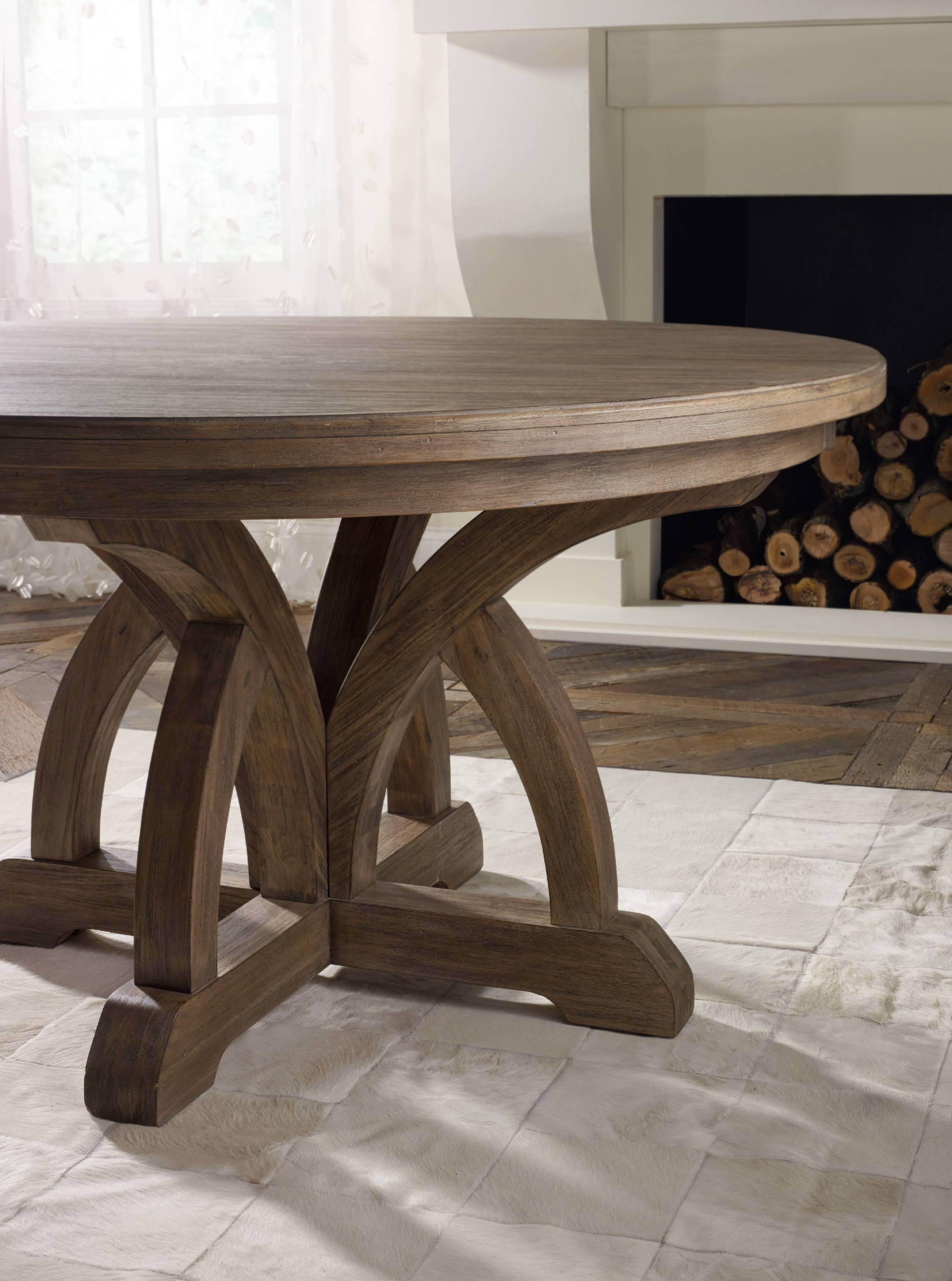 Hooker Furniture Dining Room Corsica Round Dining Table W 1 18in Leaf 5180 75203 Furniture