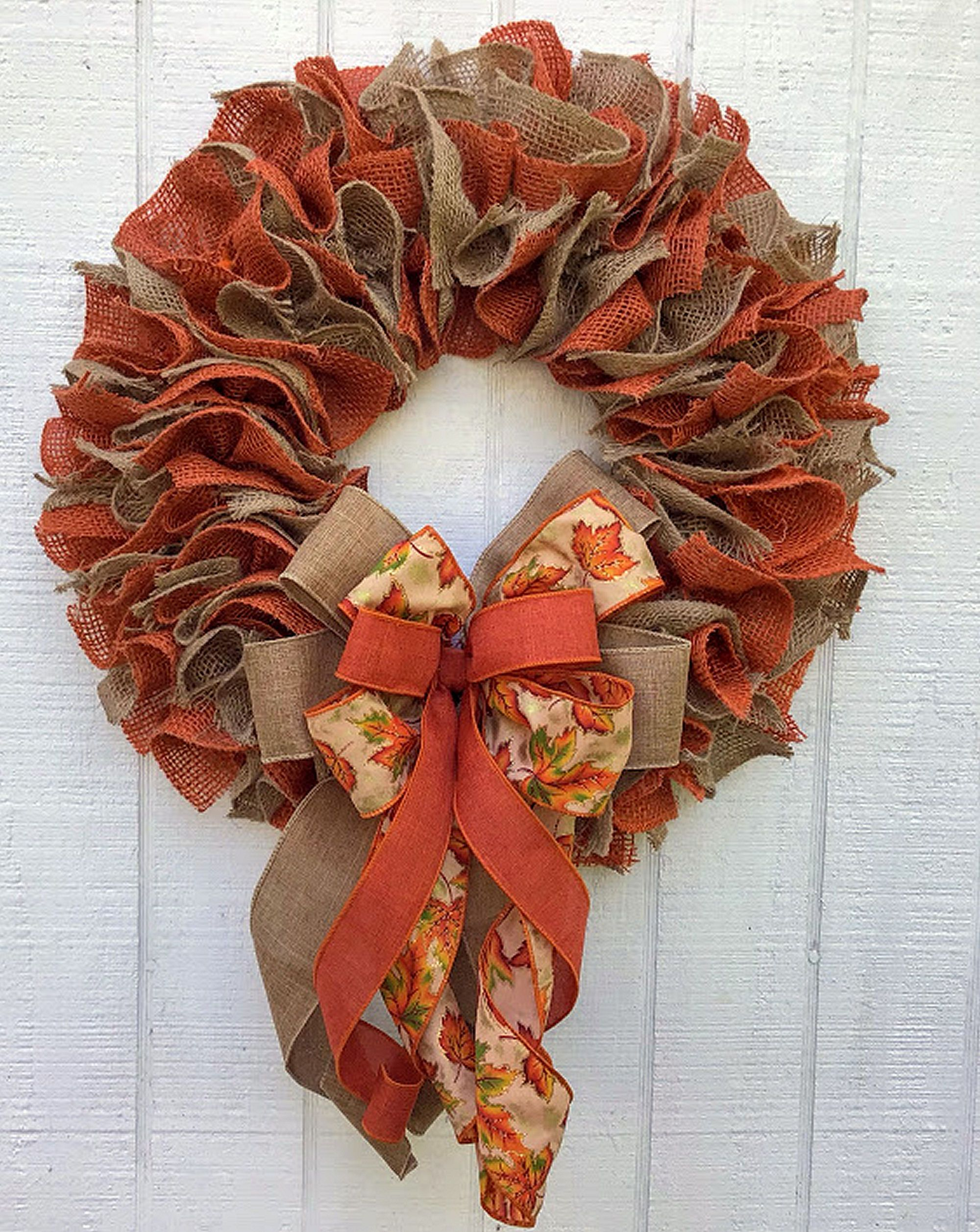 Photo of Fall Burlap Wreath for Front Door