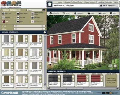 Vinyl Siding Colors Houses | ... Scheme Of One Body Color With A Contrasting