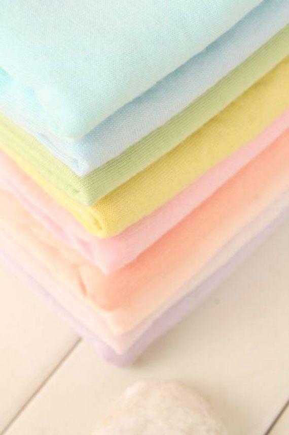 Baby-Gewebe, solides Baumwollgewebe Knit gemischt Modal, Stretch-Stoff, 21 Macarons Farben - 1/2-Hof
