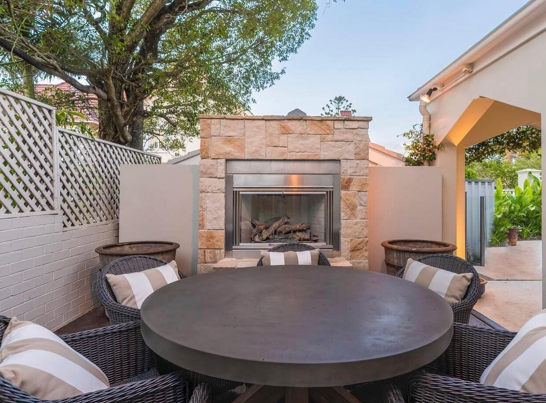 Stone fireplace to enjoy outdoor entertaining on that months of