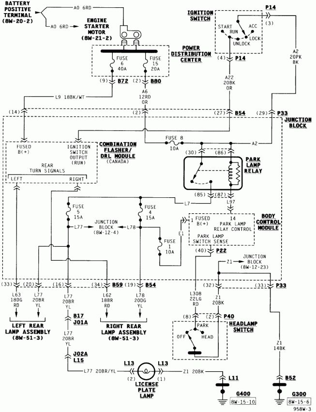 10  2003 Dodge Caravan Electrical Wiring Diagram