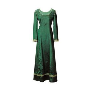 Emerald Dream Dress : Medieval Armor & Costume, Medieval Dresses, Shirts, Helmet, Weapons, Knights, Medieval clothing