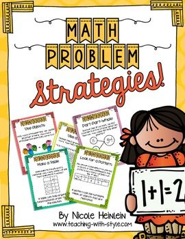 Problem Solving Strategies Worksheets Math Problem Solving