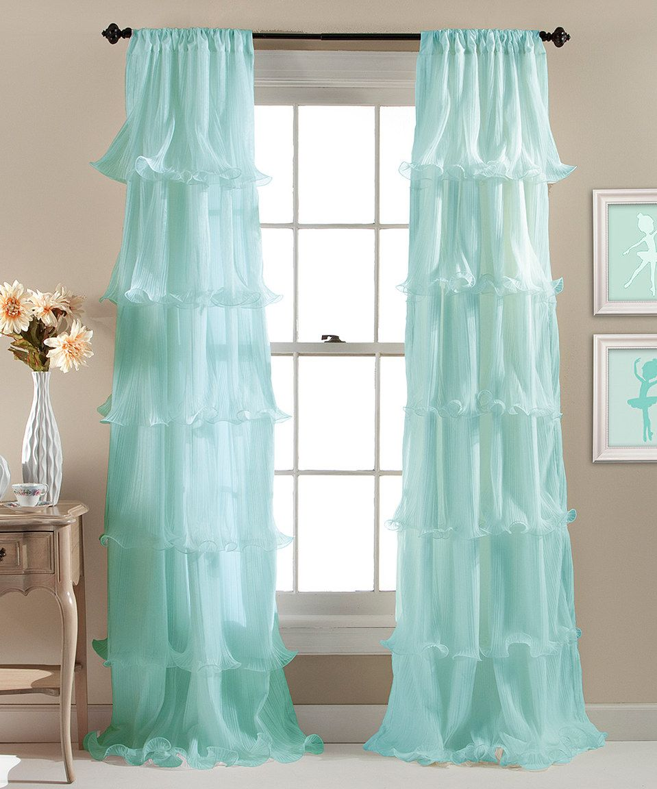 Love these for a kid's room, especially. Look at this #zulilyfind! Aqua Nerina Curtain Panel #zulilyfinds