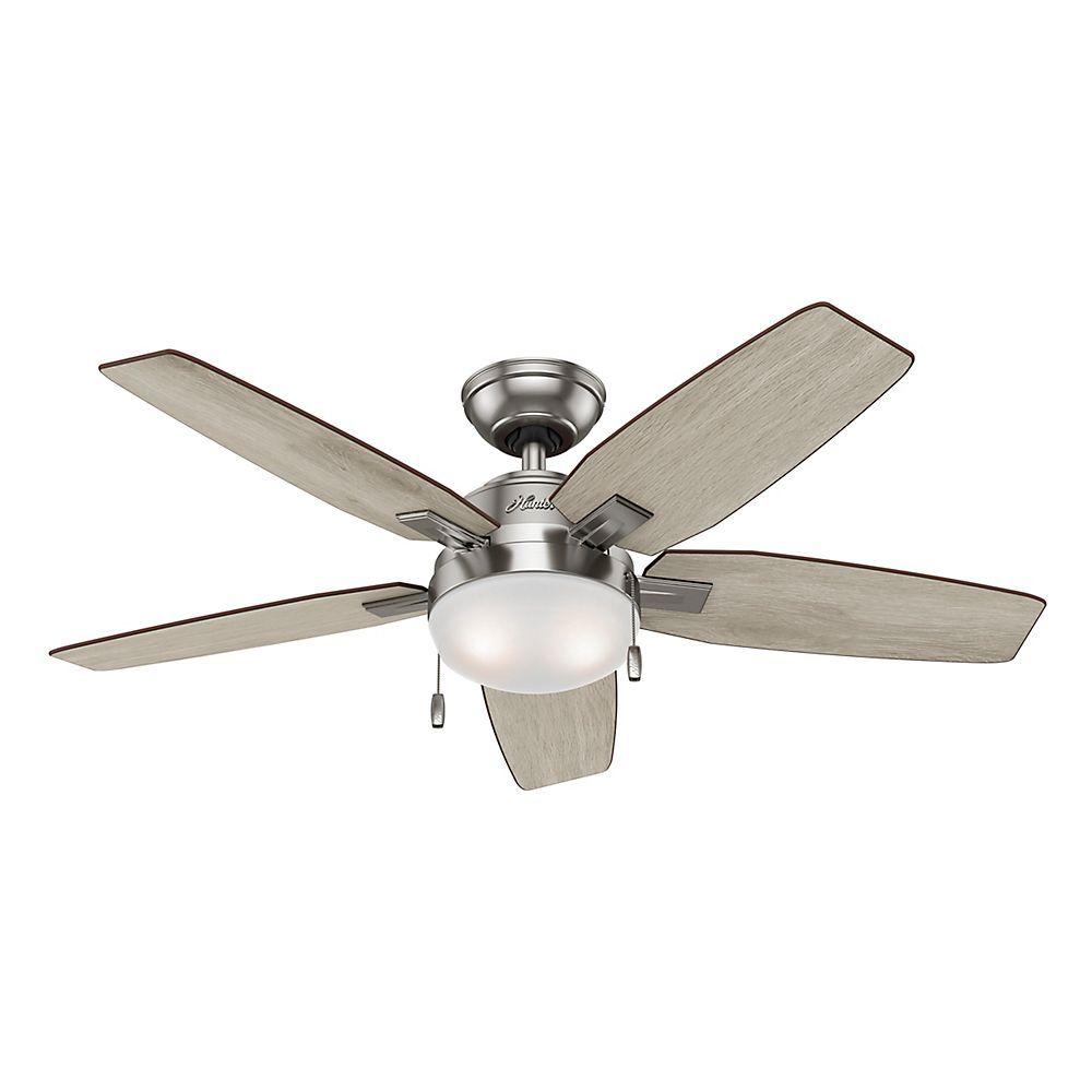 Antero 46 Inch Indoor Ceiling Fan In Brushed Nickel
