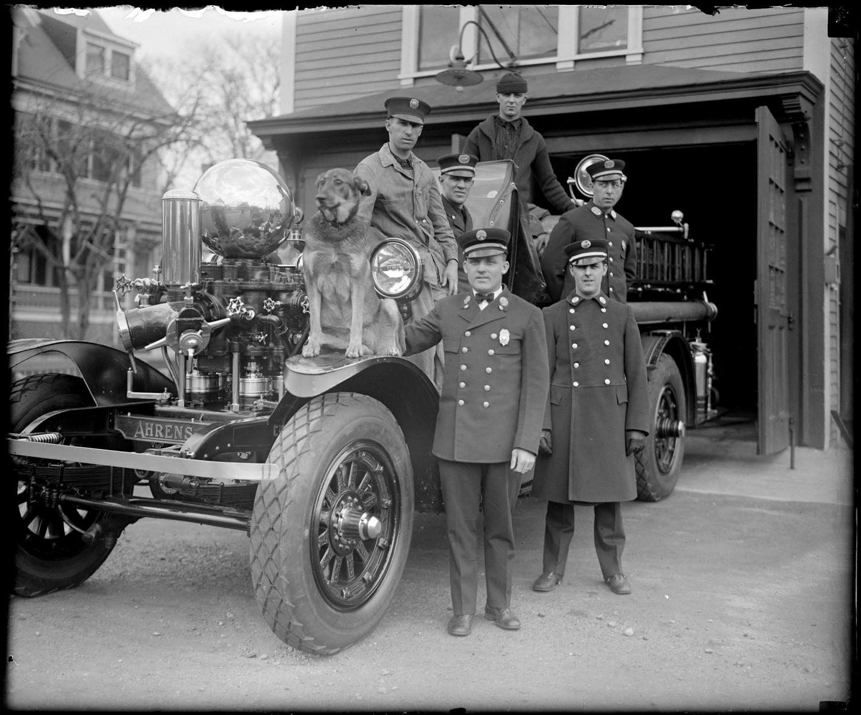 Ahrens-Fox Fire Truck in Braintree, Massachusetts, 1928.