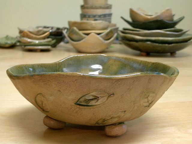 leaf bowl by PatchworkPottery