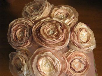 DIY satin flowers DIY Project Wedding Forums Bouquets and