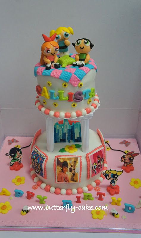 powerpuff girls cake powerpuff cake butterfly cake power puff 6741