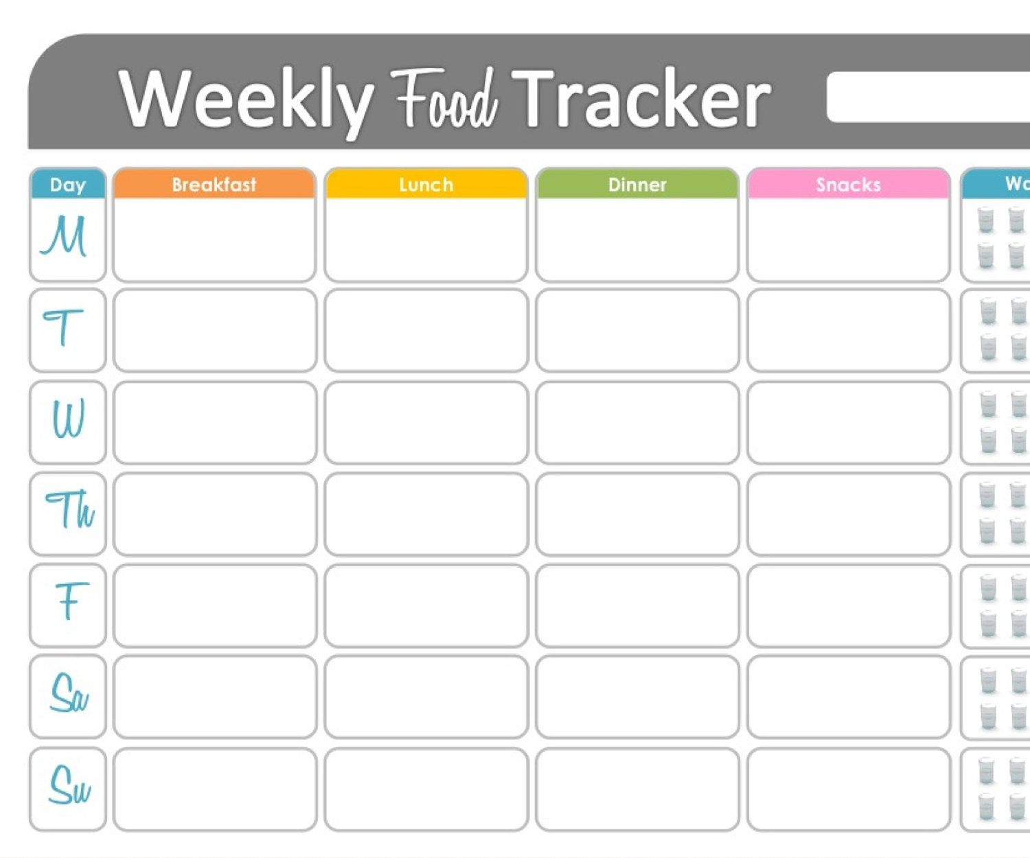 Weekly Food Tracker