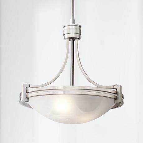 Light Possini Euro Deco 12 1 2 Wide Brushed Nickel Mini Pendant 6g811 Lamps Plus