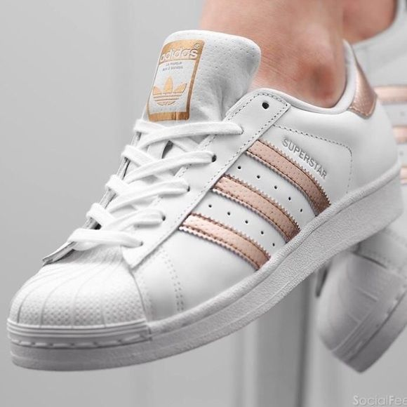 adidas superstars gold rose