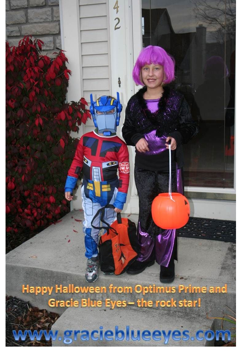 Happy Halloween from Optimus Prime and Gracie Blue Eyes - The Rock ...