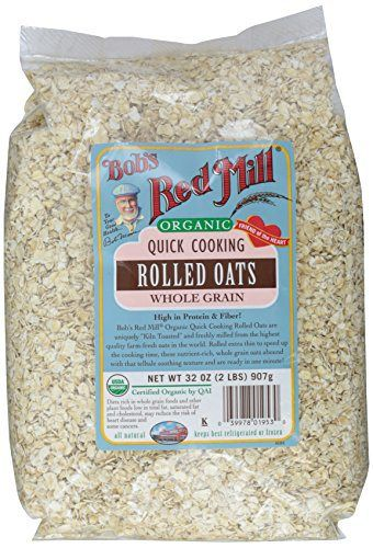 Bob S Red Mill Oats Rolled Quick 32 Ozs Sleepychef Com Everything Breakfast Bobs Red Mill Bobs Red Mill Gluten Free Cooking Rolled Oats