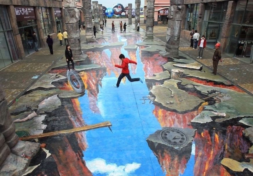3d Street Art 14 Eye Popping Optical Illusions Created In In 2021 Street Art Illusions Sidewalk Art Street Art