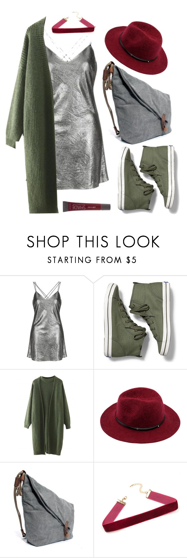 """""""slip dress"""" by elatralala ❤ liked on Polyvore featuring Topshop, Keds and Lane Bryant"""