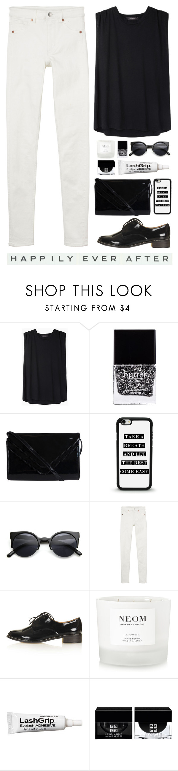"""Happily Ever After"" by lolipop132 ❤ liked on Polyvore featuring Isabel Marant, Butter London, Pieces, Retrò, Monki, Topshop, NEOM Organics, Ardell, Givenchy and Vintage Playing Cards"