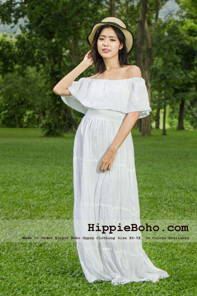 No359 Hippie Bohemian Gypsy Simple Wedding Dress Smallplus Size